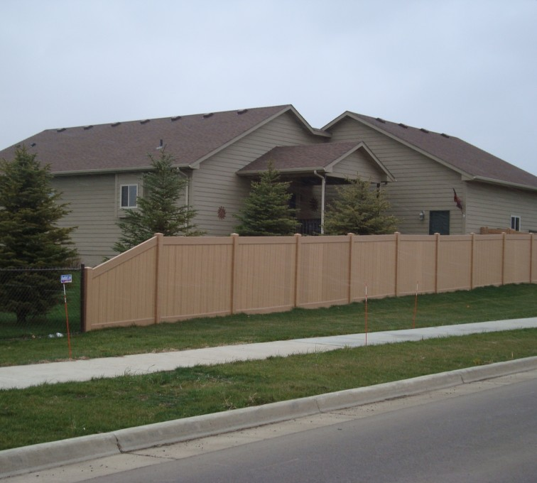 AFC Sioux City - Woodland Select Vinyl Fencing, Solid Privacy