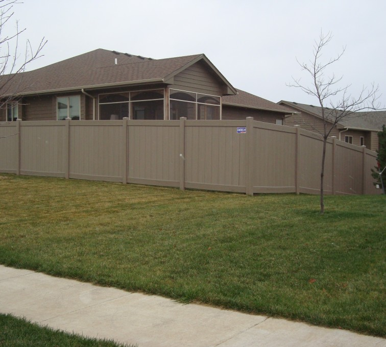 AFC Sioux City - Vinyl Solid Privacy Fence - Woodland Select