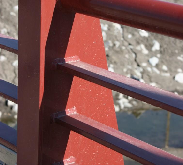 AFC Sioux City - Red Custom Railing