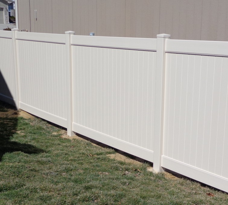 AFC Sioux City - Tan 6 foot Privacy Vinyl Fence
