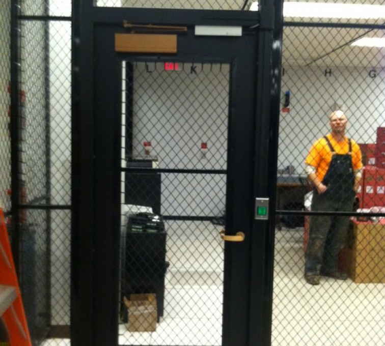 AFC Sioux City - Indoor wire mesh partitions
