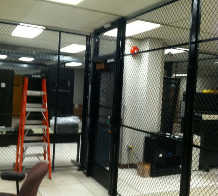 AFC Sioux City - Woven wire mesh partition indoors