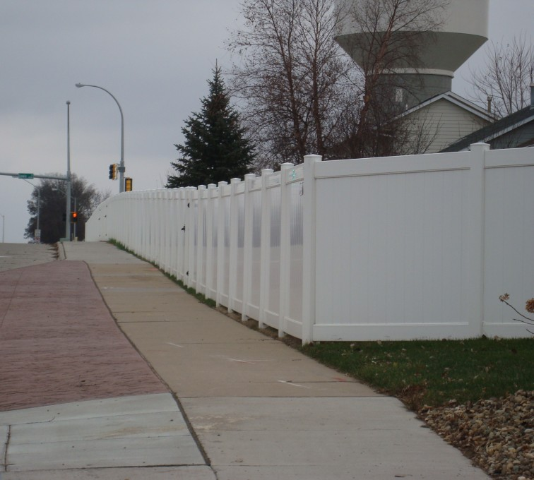 AFC Sioux City - White Vinyl Privacy Fencing