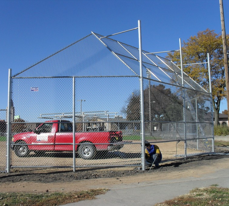AFC Sioux City - Baseball field backstop chain link