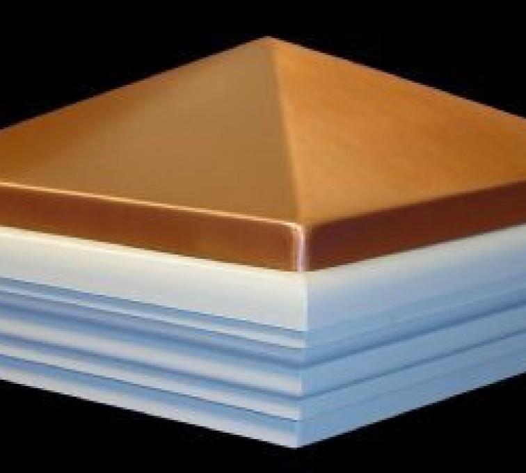AFC Sioux City - Accessories, Copper Classic Style PVC Vinyl Fence Post Cap