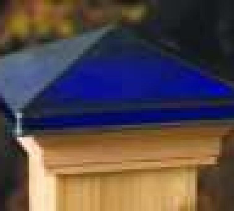 AFC Sioux City - Accessories, Decorative Glass Cedar Fence Post Cap
