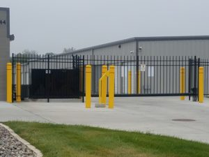 Gate access control keypad for a cantilever gate