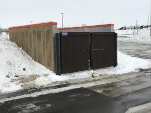 Dumpster enclosure at Sioux City fleet farm