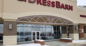 A Dress Barn store in Sioux City, Iowa with custom ornamental fencing above the entrance