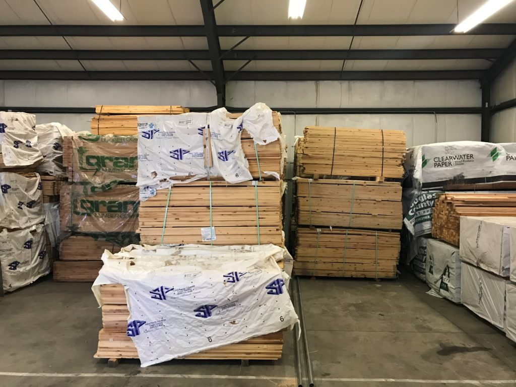 Bundles of wood fence pickets in Sioux City