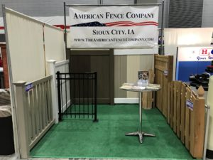 The American Fence Company of Sioux City set up at the 2019 home show
